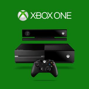 Xbox One frontal, sensor y mando con logo