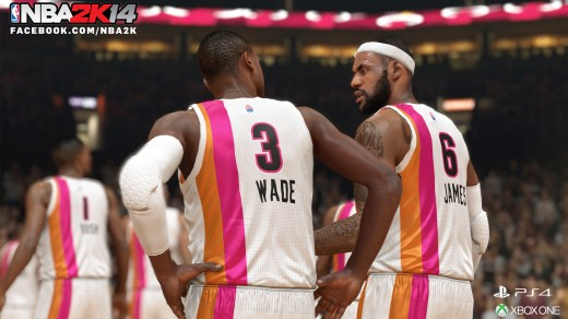 Lebron James y Wade en NBA 2K14 NextGen