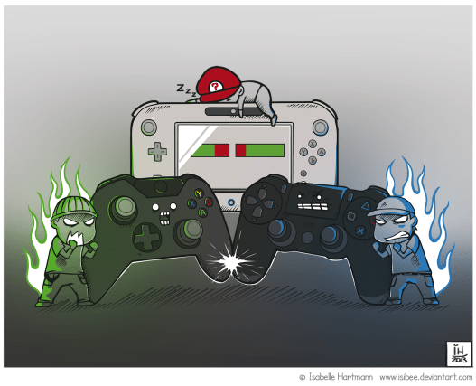 next_gen_consoles_battle_by_isibee-d6j7b87
