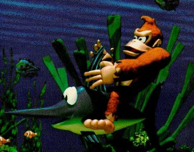 Donkey Kong Country fase acuática