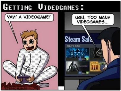 Viñeta consumismo y videojuegos