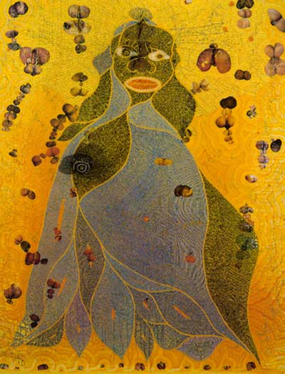 The Holy Virgin Mary por Chris Ofili