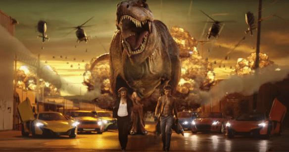 Un dinosaurio, explosiones y un argumento de Michael Bay. Quiero fumar lo mismo que los creativos de EA.