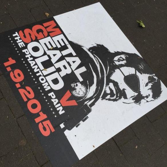 Publicidad de MGS V en las calles de Colonia