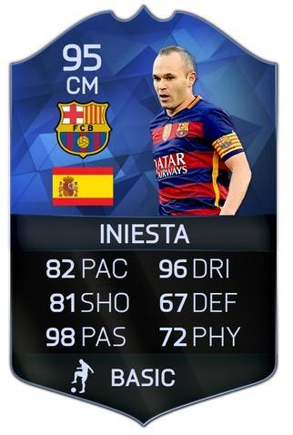 Carta Andres Iniesta TOTY FIFA 16