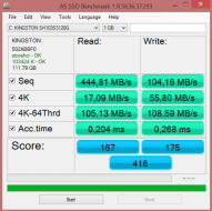 SSD kingston 120GB
