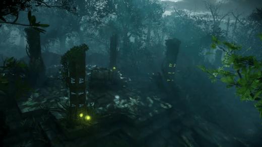 Esto parece un templo de invocacion. Esos simbolos son los del lenguaje de los guardianes vistos en Shadow Of Evil