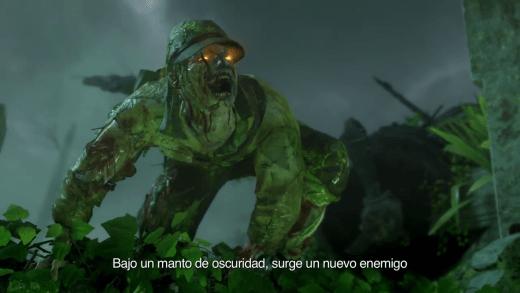 Estos zombies hacen clara alusión a los vistos en Shi No Numa de World At War ¿Ese color verde se interpreta como infectado?