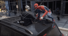 Spiderman en coche