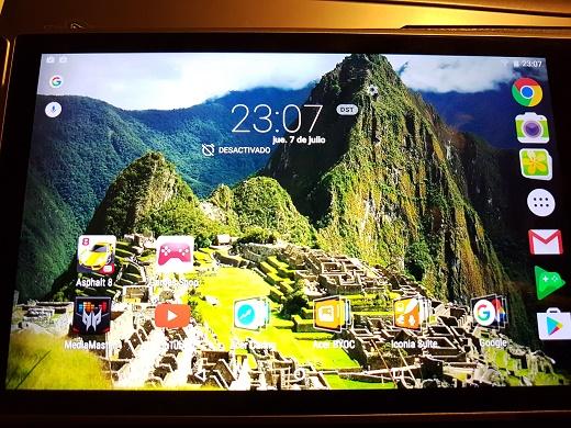 acer predator 8 pantalla inicio