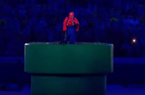 Así fue la entrada del Primer Ministro japonés: en una tubería de Super Mario. IMPRESIONANTE.