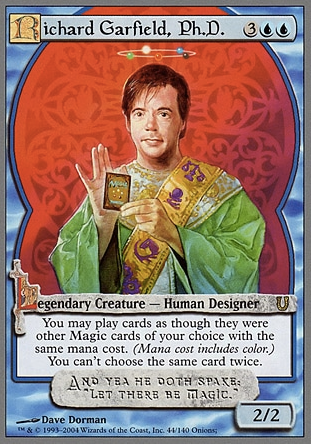 Richard Garfield, el creador de Magic: The Gathering, tiene su propia carta