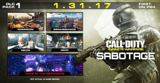 Primeras partidas en el DLC SAbotage de Call Of Duty Infinite Warfare desde PS4 Pro