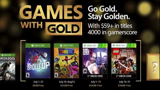 Los juegos para julio de 2017 — Games with Gold