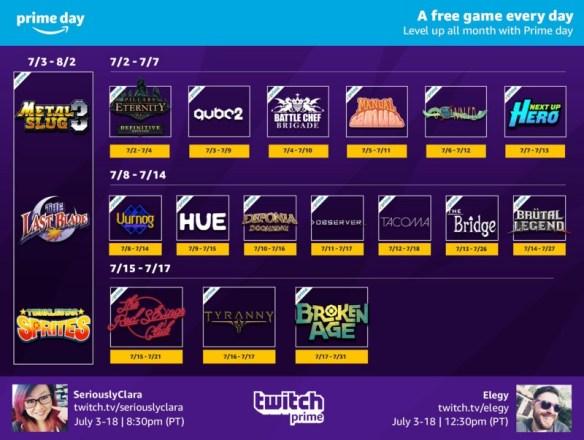 Twitch Prime en julio celebra a lo grande el Prime Day