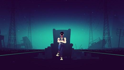 Captura del videojuego Sayonara Wild Hearts de Simogo