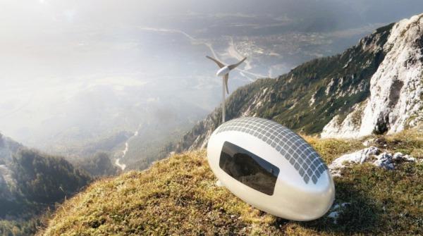 カプセル型の自給自足型マイクロハウス「Ecocapsule」