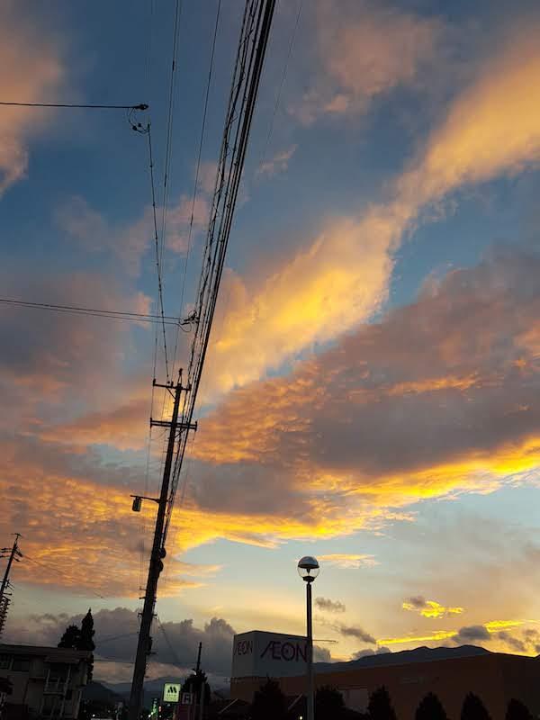長野県飯田市の夕暮れ時。夏2018,akihikogoto.com