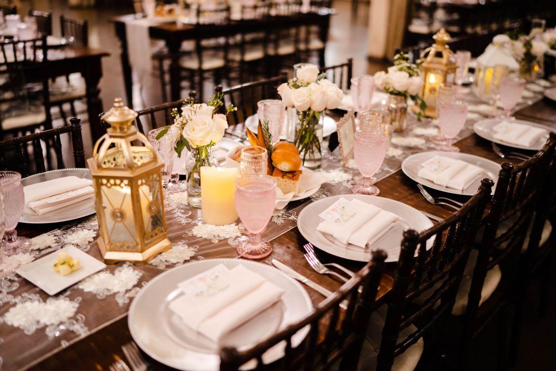9 wedding table setup