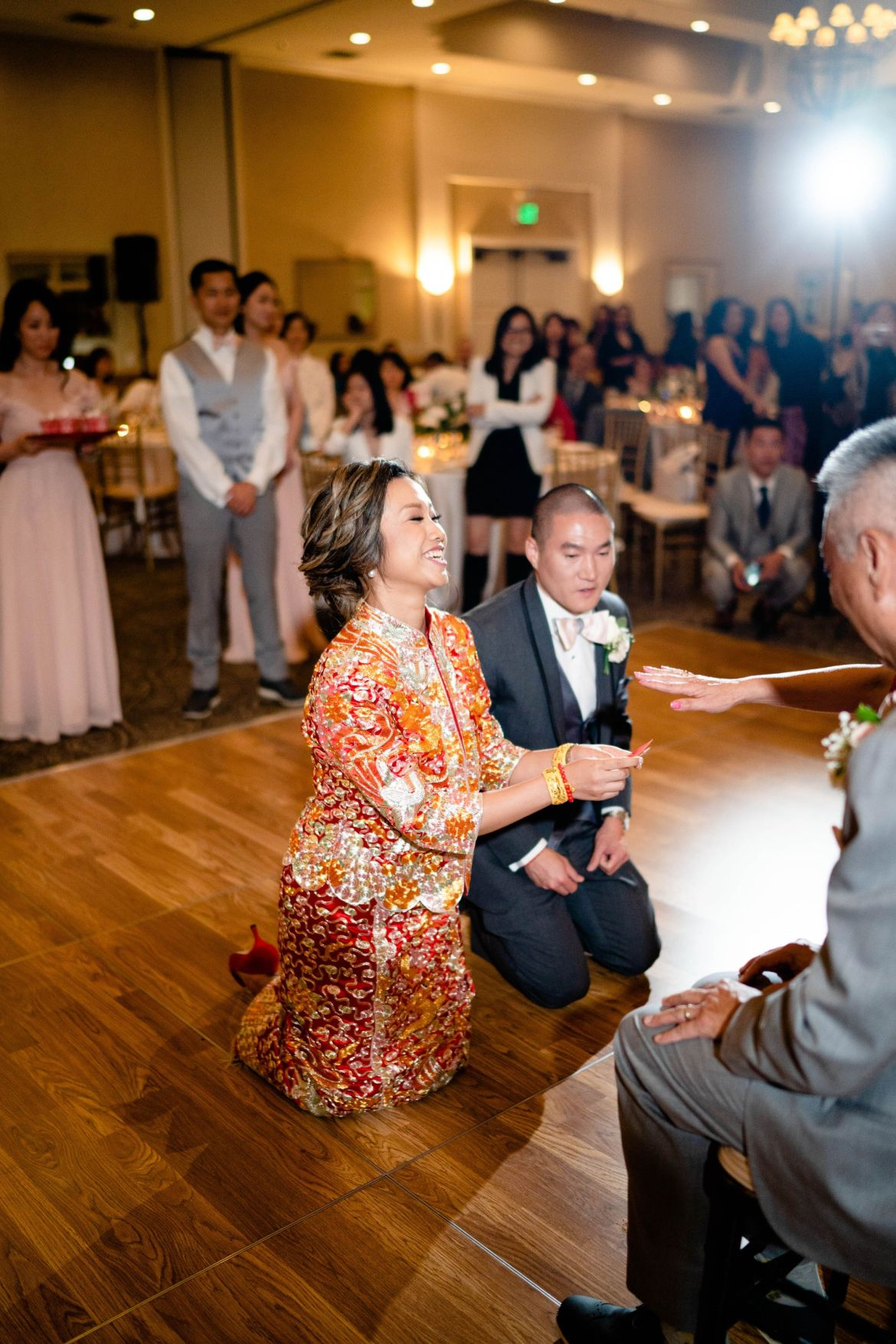 Los Coyotes Country Club Wedding Tea Ceremony