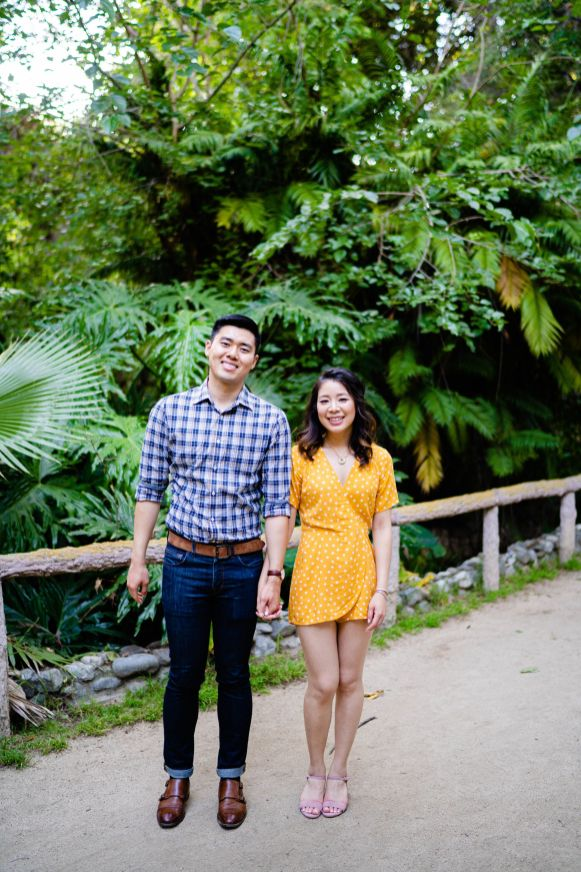 Engagement LA botanical garden