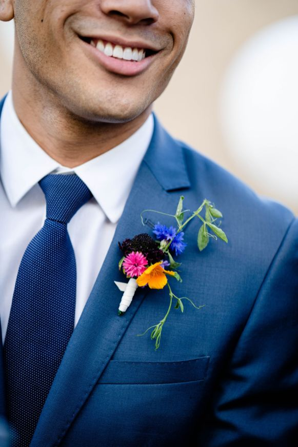 gay wedding boutonniere
