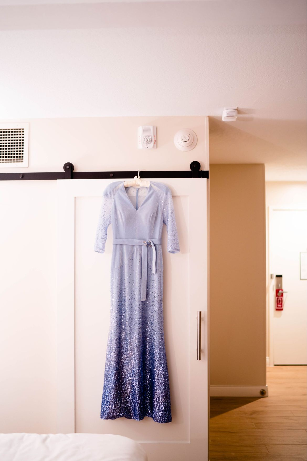 blue dress wedding