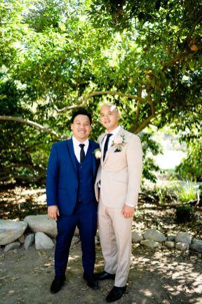 beige suit wedding
