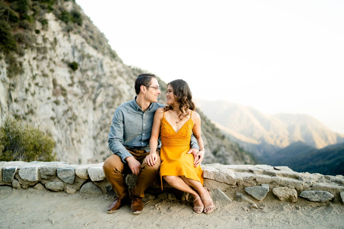 angeles crest forest engagement session