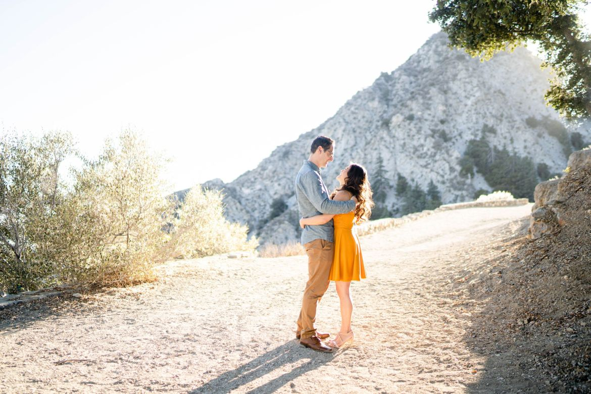 mountain engagement golden hour