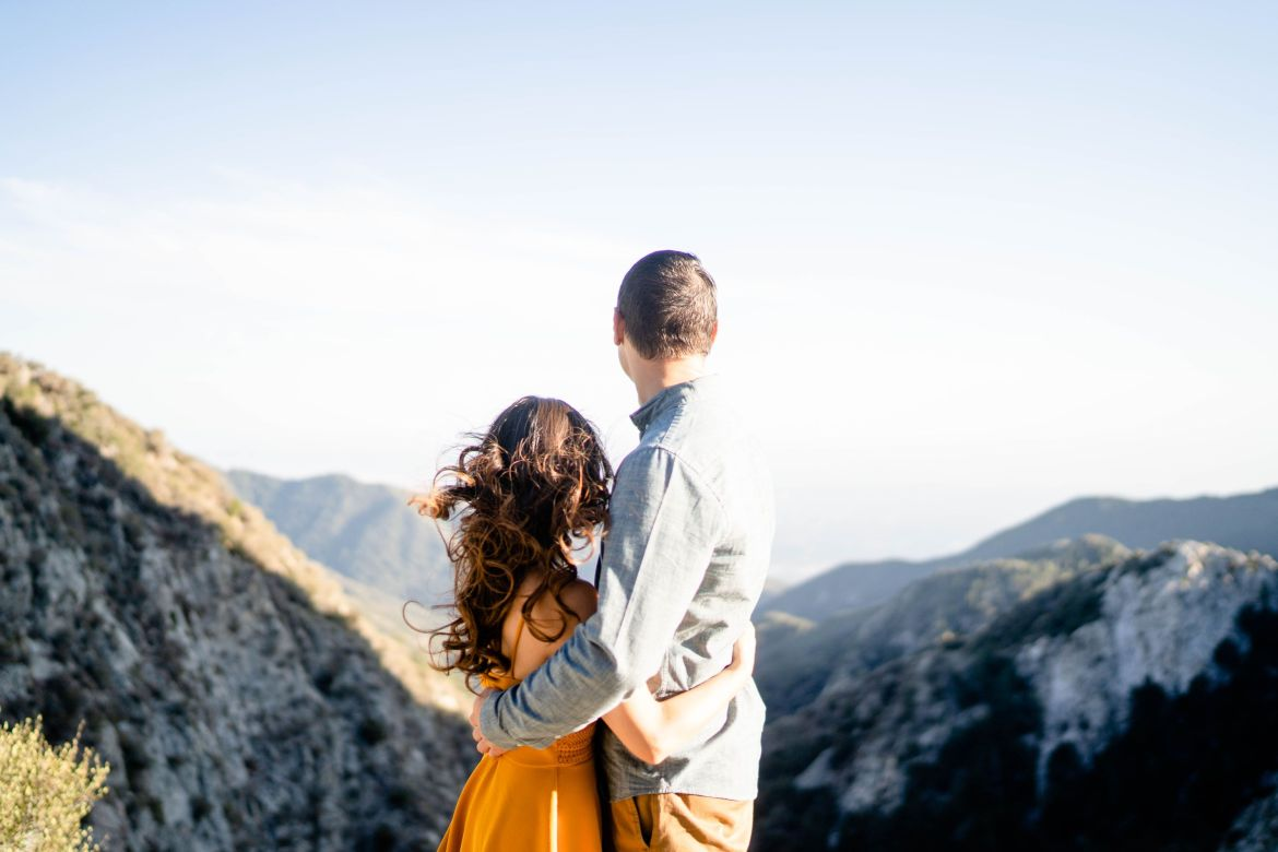 LA hiking engagement