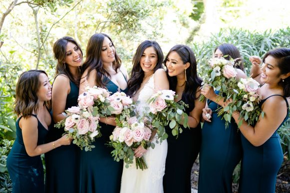 forest green bridal party