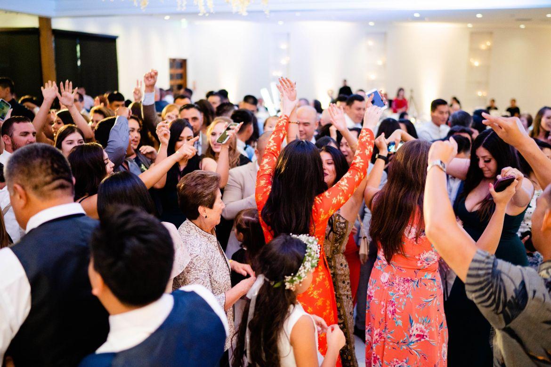 partying huntingon beach wedding