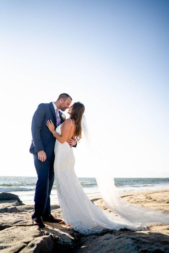 beach wedding. el segundo state beach