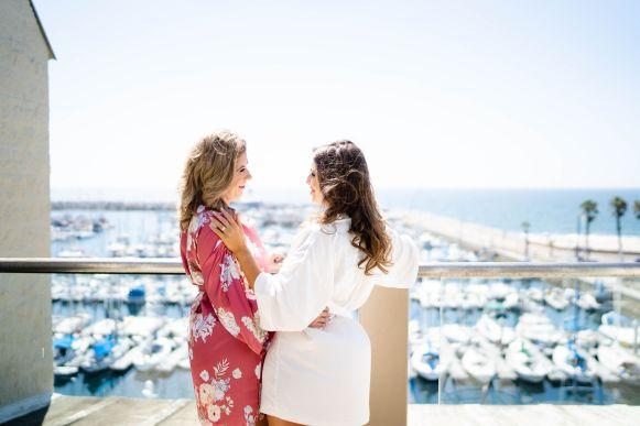 el segundo beach wedding balcony