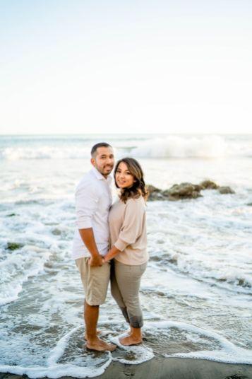 engagement photos at el matador beach