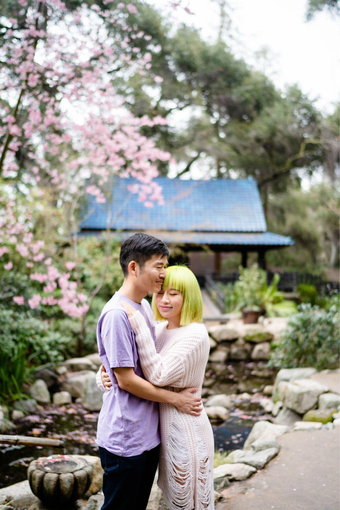 proposing at descanso garden