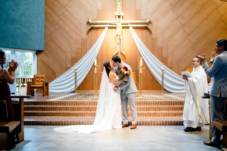 formal catholic wedding mile square park