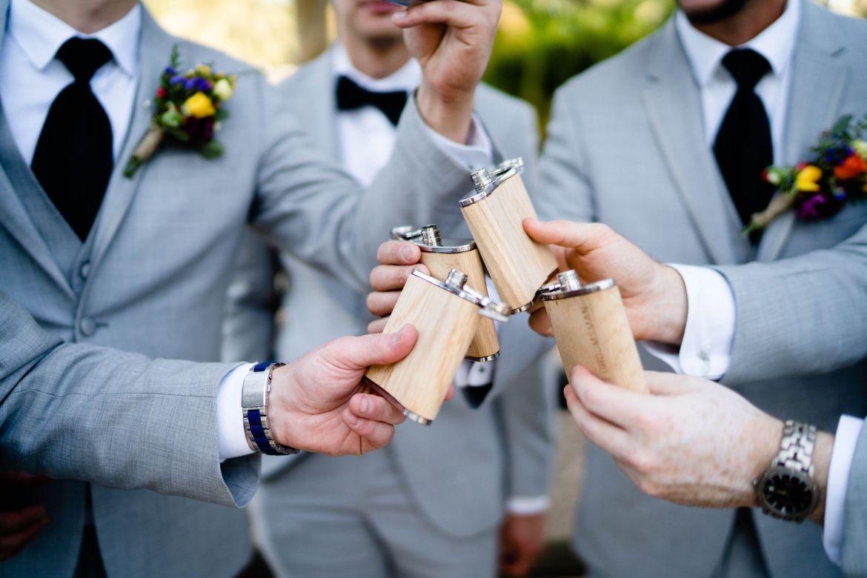 groomsmen gift flask mile square park
