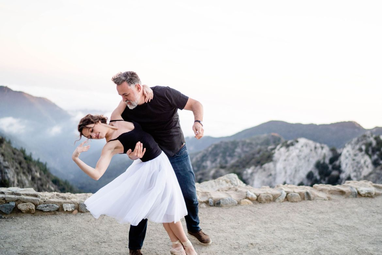 angeles national forest ballerina engagement