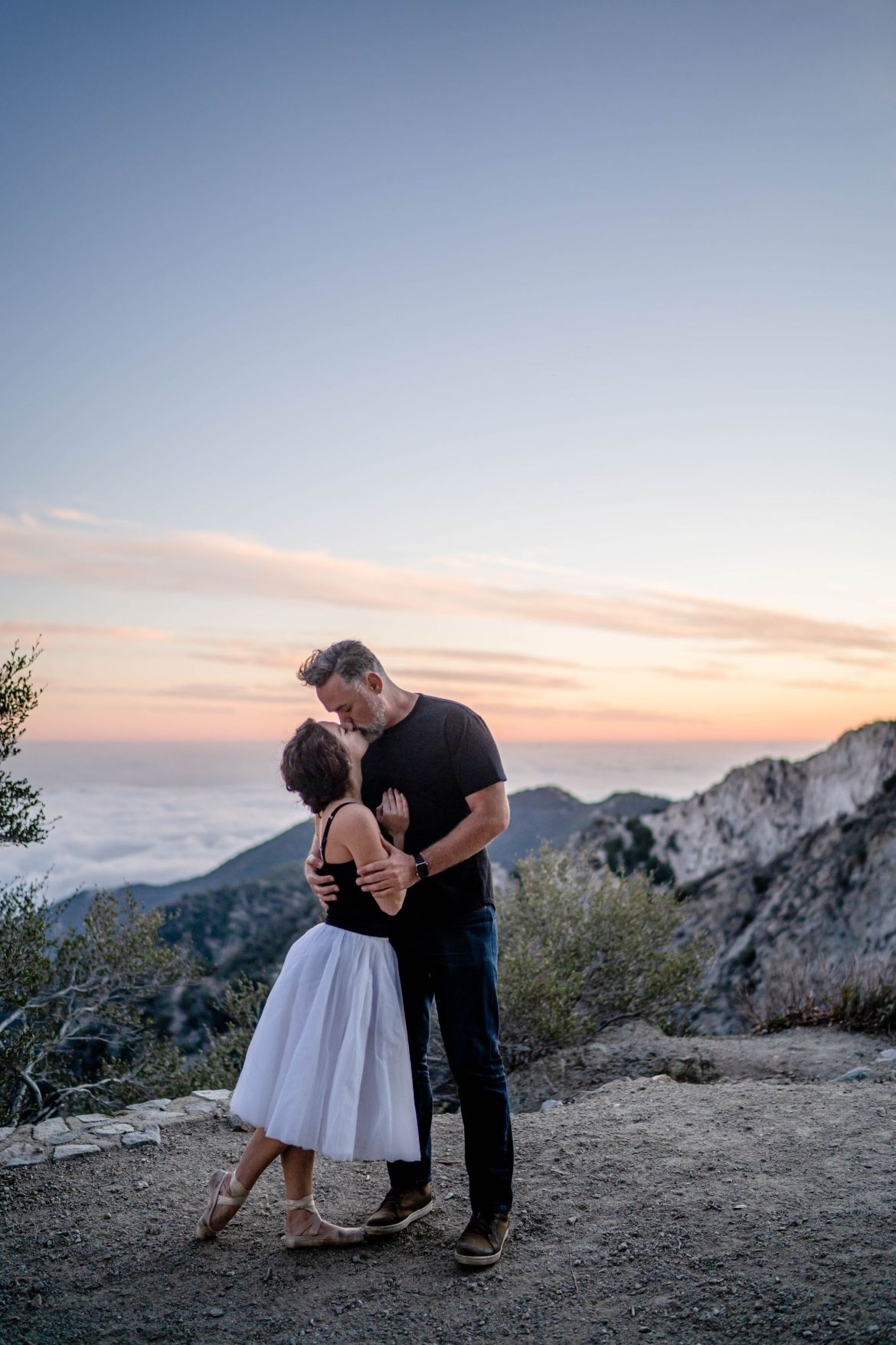 mountain elopement ballerina wedding
