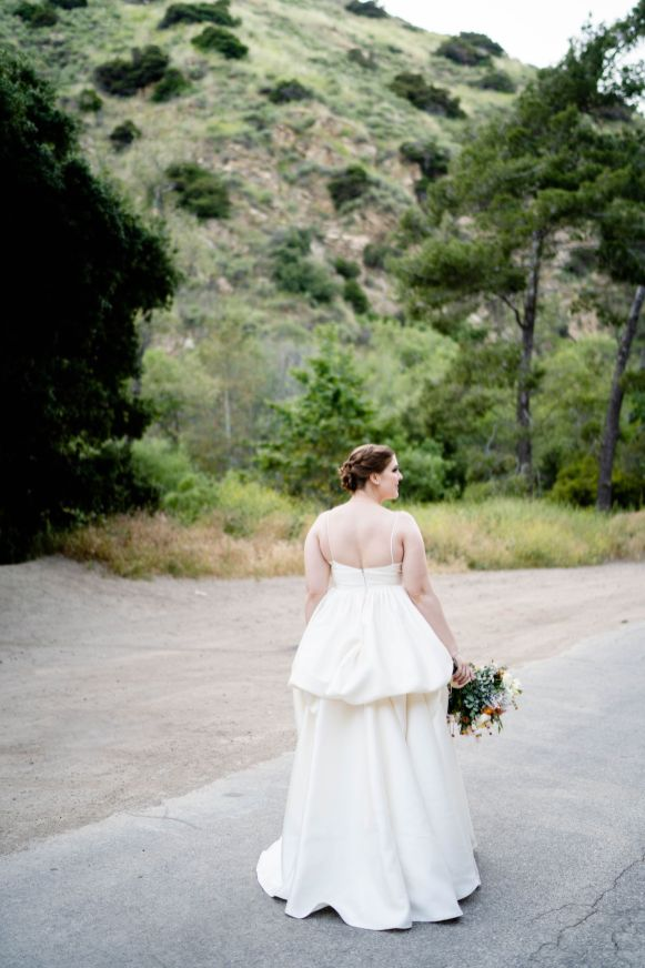 san dimas wedding BHLDN wedding dress