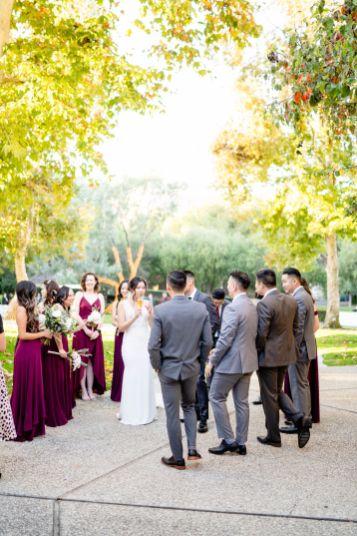 UC Irvine university club wedding photo