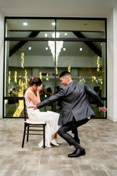 bride and groom wedding garter
