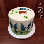 small bluebonnet cake