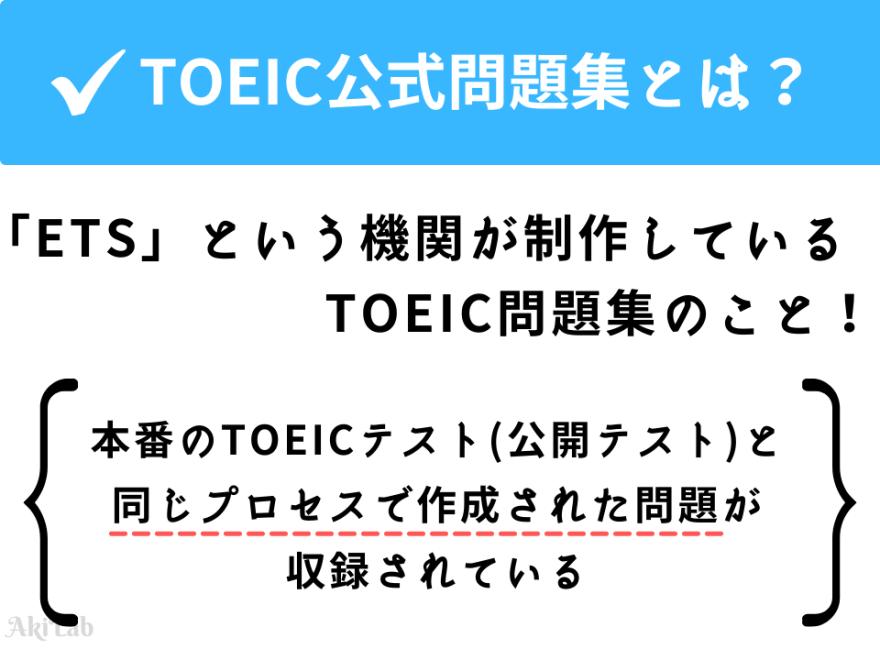 TOEIC公式問題集とはETSが制作している問題集のこと