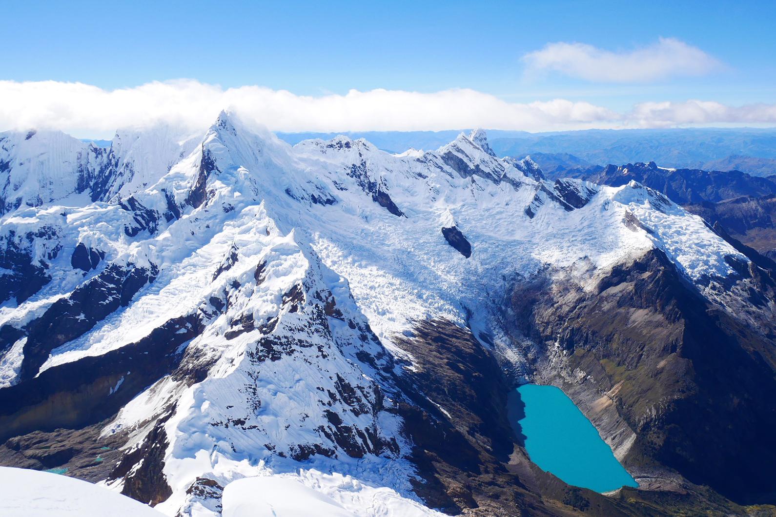 mountain in cordillera blanca Perú