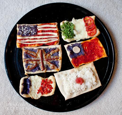 国旗ピザ – 日本といえばやっぱりスシ?