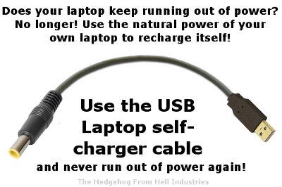 ラップトップパソコン永久充電USBケーブル