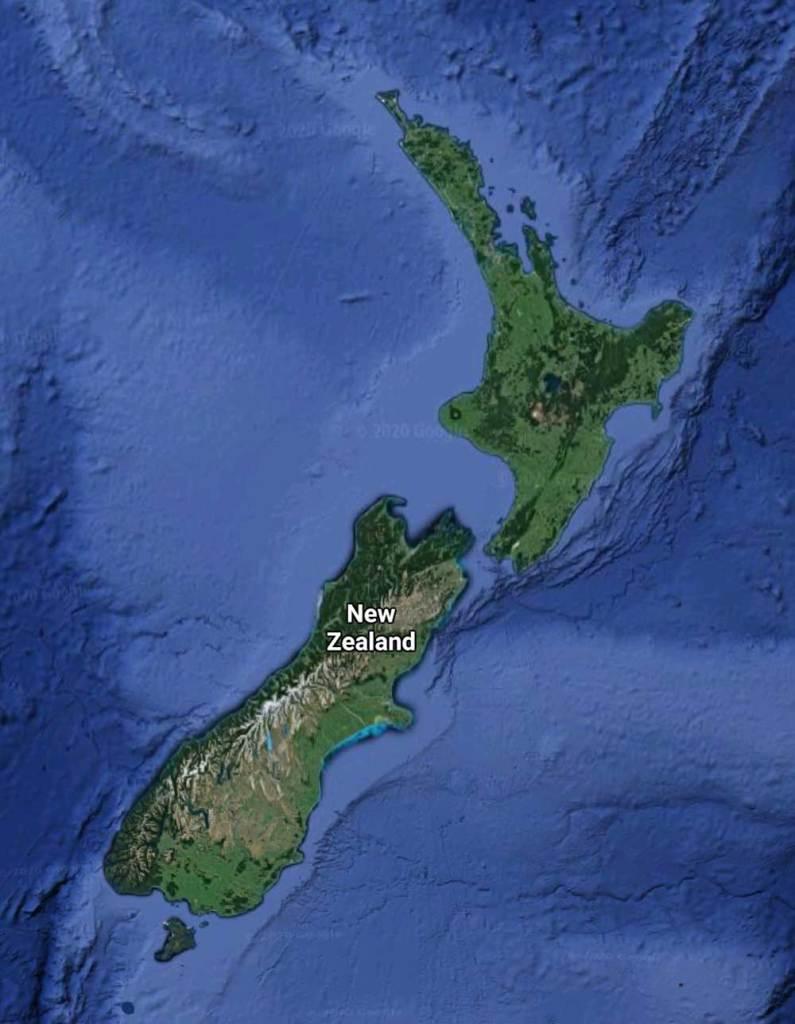 Satellite Map Of New Zealand